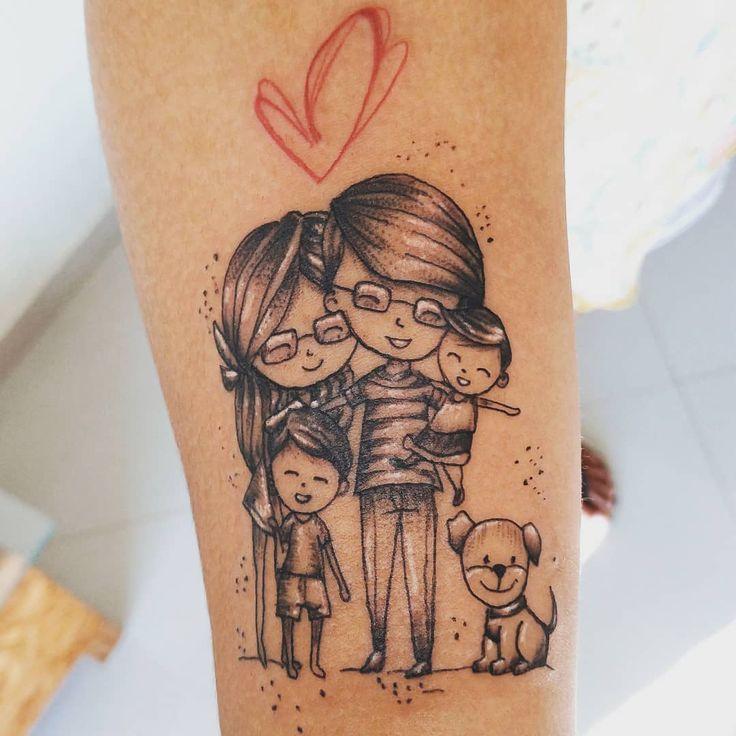 Tatuagem de família: 90 opciones para registrador todo o seu amor  – Tattoos
