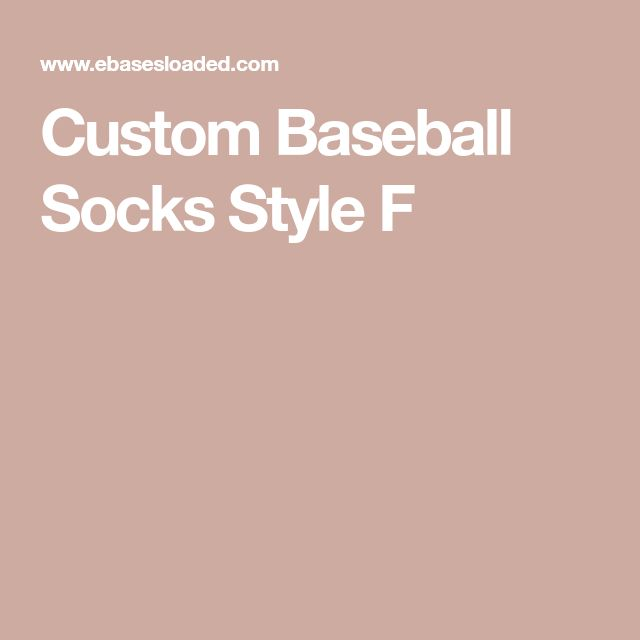 Custom Baseball Socks Style F