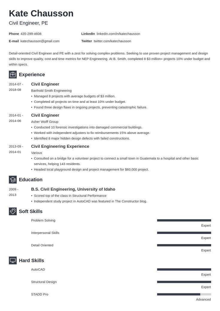 civil engineering resume example template newcast  flight