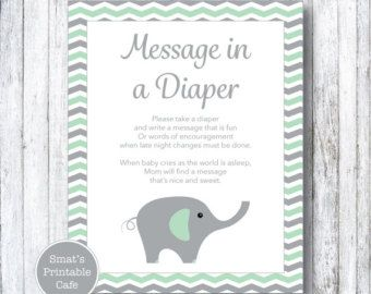 Woodland Animal Baby Shower Diaper Message Game   PRINTABLE Forest Theme    Gender Neutral   Instant Download   Baby Shower Games   Fox Deer