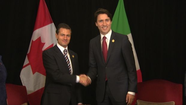 Justin Trudeau formally commits to lifting visa requirement for Mexicans:  Mexican President Enrique Pena Nieto met with Canada's PM at G20 summit in Turkey (CBC News 17 November 2015)