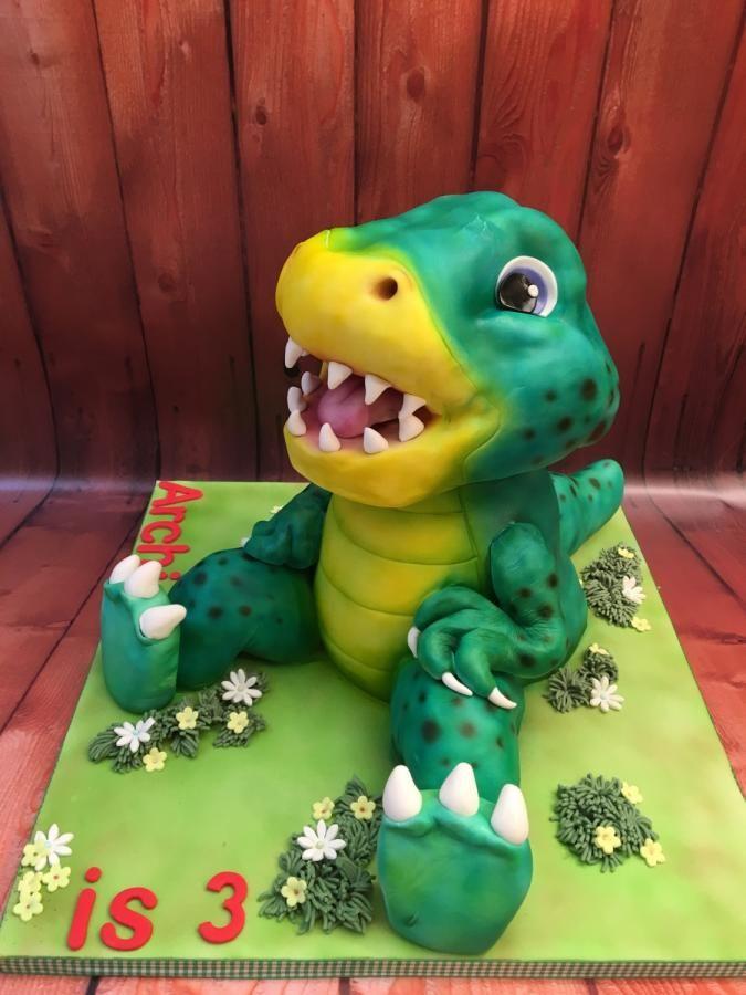 Dinosaur cake by Elaine - Ginger Cat Cakery
