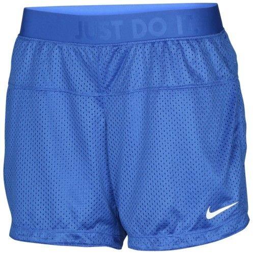 Nike Women's Reversible Icon 6.5 Mesh Training Shorts-Royal Blue-XS