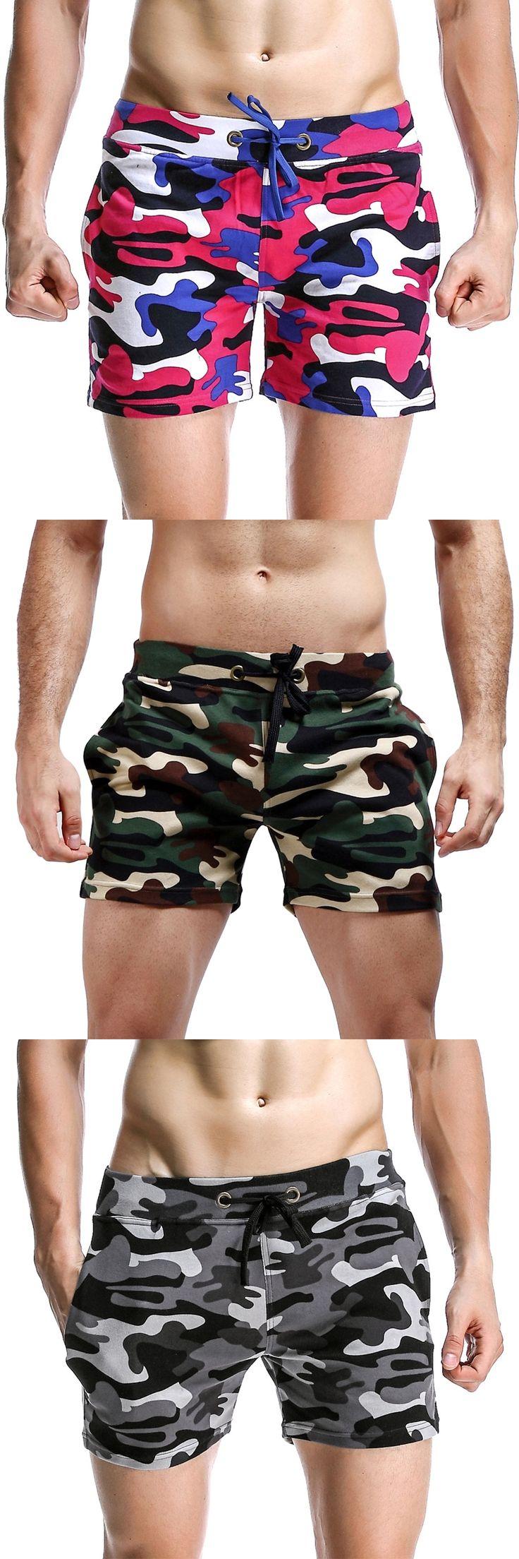 Fashion Camouflage Shorts Men Low Waist Men Casual Trunks Comfort Homewear Fitness Workout Shorts