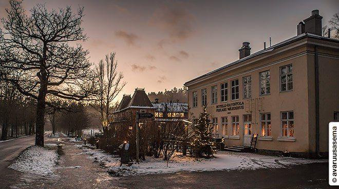 Hotel and restaurant Fiskars Wärdshus in Fiskars Village in Raseborg, Finland