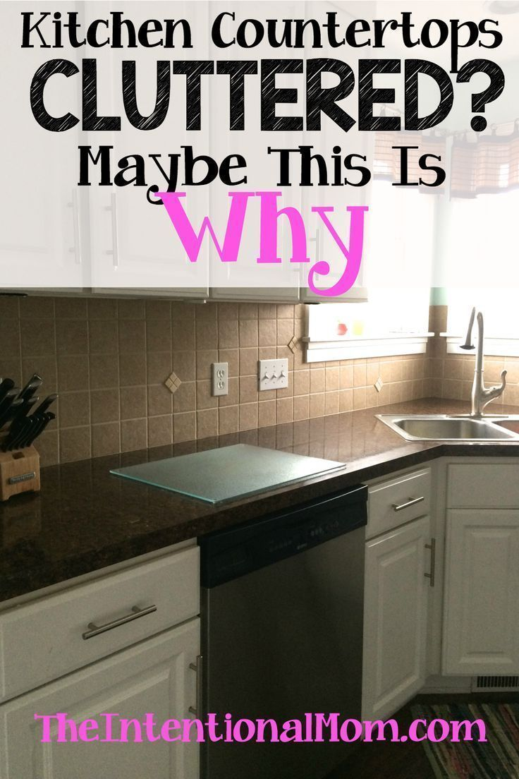 kitchen counter clutter maybe this is why cleaning tips hacks rh pinterest com