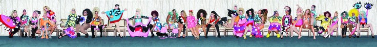 "Miley Cyrus and the Queens backstage photoshoot during MTV VMA 2015 where miley cyrus performed ""DOOO IT"" with the queens as backup dancers.  (I found pieces of the photos and put it together coz I can't find the whole one)  #dragqueens #mileycyrus #rupauldragrace #mtv #vma2015"
