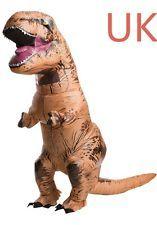 T-Rex Jumpsuit Inflatable Dinosaur Adult Blow Up Costume Jurrassic Fancy Outfit