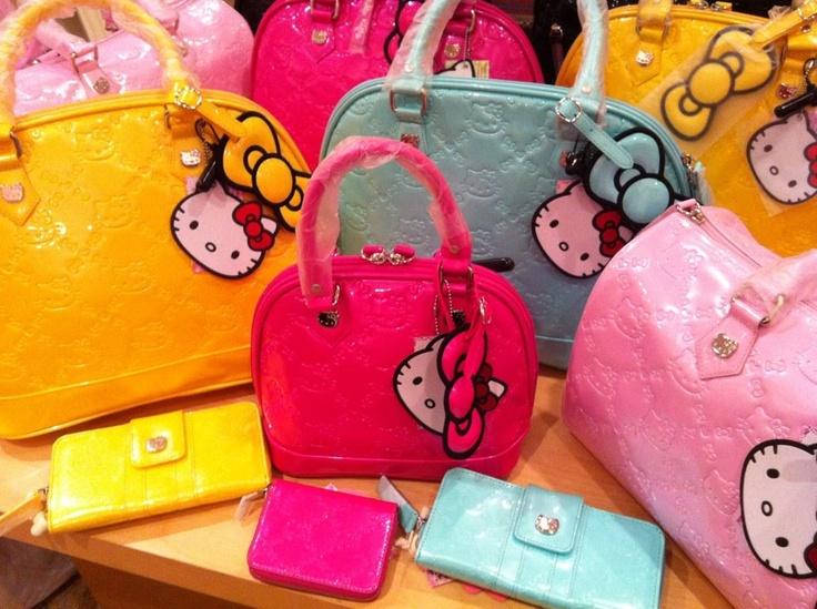 Hello Kitty Embossed Tote Bags! ADORABLEEEE!!!