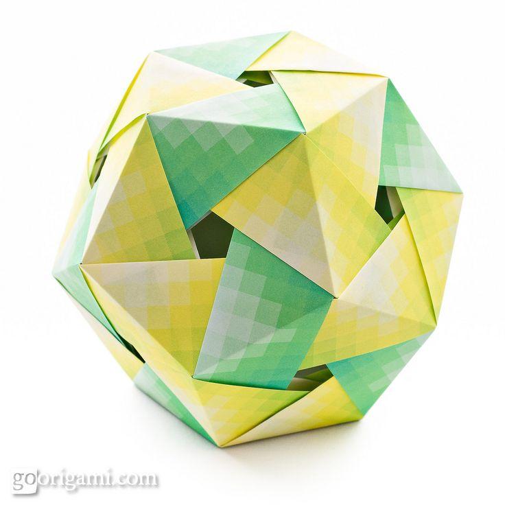 Origami Dodecahedron by Maria Sinayskaya