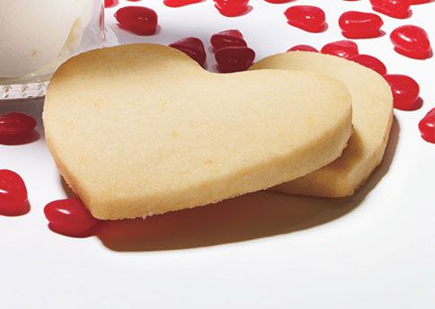 LEMON SHORTBREAD HEART COOKIES - only 1 cup of flour for approx. 16 cookies means that GF flour shouldn't be too big an issue here.