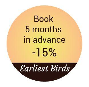 earliest birds promotion