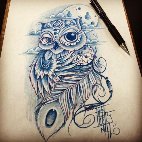 Owl dreamcatcher drawing - photo#45