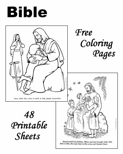 Bible color pages