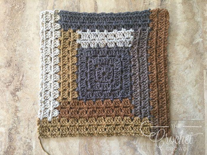 Crochet Log Cabin Quilt