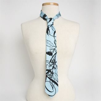 Hand printed and dyed silk tie by Margot Van Lindenberg's (Calgary, AB). Member of the Alberta Craft Council.