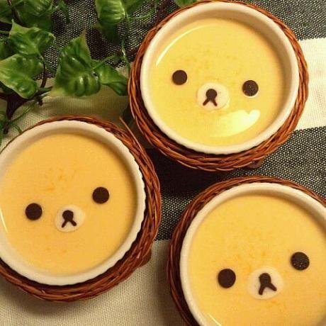Rilakkuma pudding cup ♡ $3 each or $20/dozen