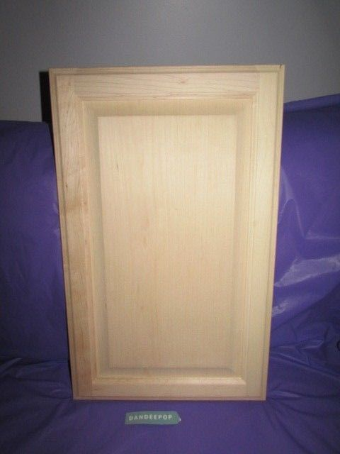 Maple Unfinished Stain Grade Kitchen Cabinet Raised Panel Door 23 7/8 x 14 7/8 #cabinet #cabinetdoors #solidmaple #maplewood #stainablecabinetdoors #unfinished #doors #wood #dandeepop Find me at dandeepop.com