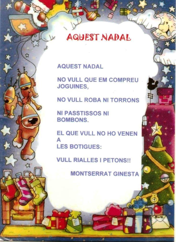 Poema AQUEST NADAL NO VULL....