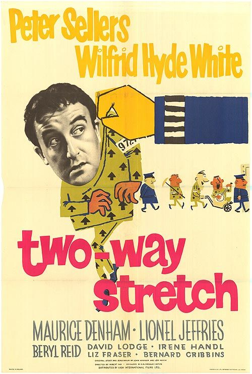 Poster for Two-Way Stretch, 1960 British comedy film starring Peter Sellers and Lionel Jeffries. Still funny.