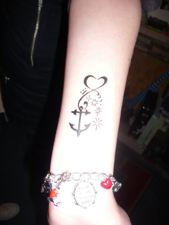 56af99cbb 66 Most Popular Infinity Tattoo Designs | tattoos | Tattoos, Anchor ...