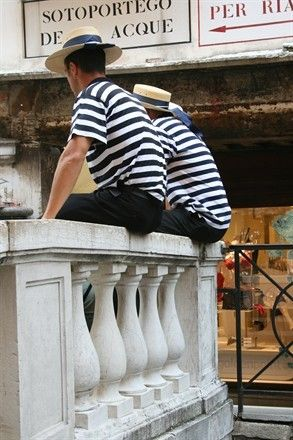 Oooh or the Italian gondola boys....o sole mio !XO