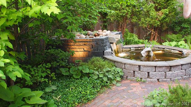 Raised ponds with waterfalls natural stone water for Garden pond raised