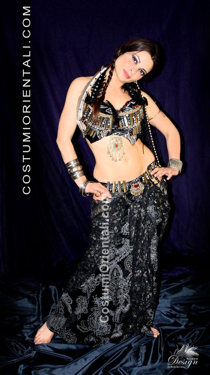 """Ranya's Art Boutique 2013/14 collection LINEA COSTUMI TRIBAL FUSION MODELLO """"AZTEC DESIGN"""" www.costumiorientali.com  (bellydancer Zaira Gipsy Dreamer)"""
