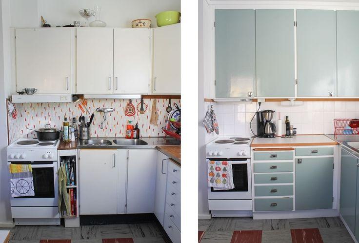 Funkiskök, före och efter. Foto: Erika Åberg inspiration till vår köksrenovering