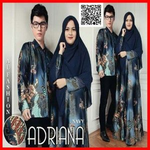 batik couple adriana MGS29 navy