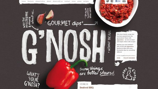 a super cool restaurant website!  http://gnosh.co.uk/