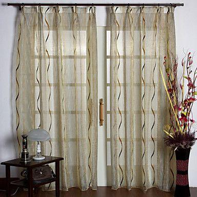 Two Panels Wavy Lines Drapes  | Drapes vs Curtains