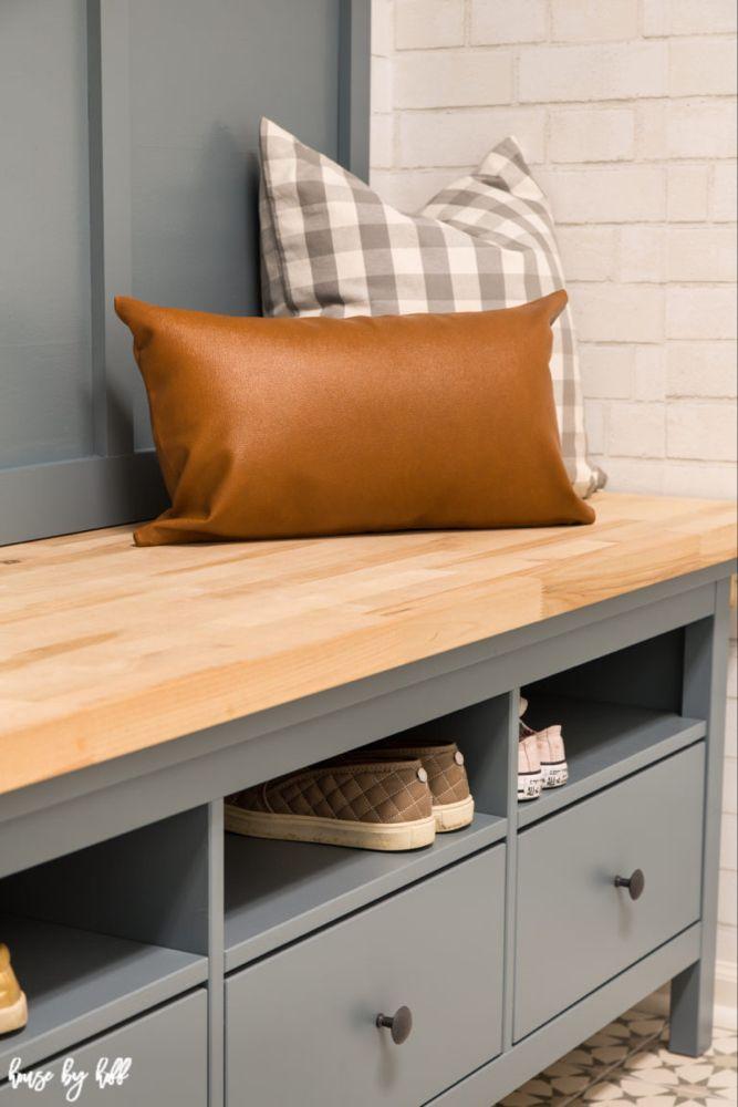 Ikea Hemnes Hack Diy Mudroom Bench And Storage Diy Mudroom