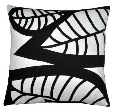 Mairo black Hosta cushion cover. Designed by Linda Svensson Edevint.