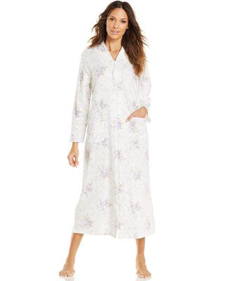 Charter Club Long Zip Robe, Reg. CAD 103.57 Sale CAD 62.14, Cozy up in this easy-on style by Charter Club. The Long Zip Robe is made of soft cotton and features two side pockets. Cotton Machine washable Imported Full-length zipper closure Side pockets Style #141208A716