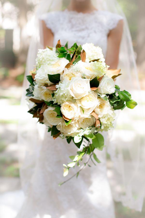gorgeous cream + magnolia bouquet | Holland Williams