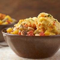 Vegetable Stew with Cornmeal Dumplings