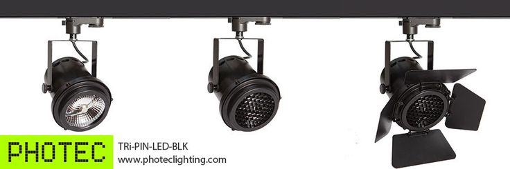 The TRi-PIN-LED fitting in black from Photec Lighting
