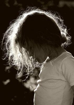 Cheveux de feu ! - Aurégane, fin d'après midi - Votre meilleure photo en contre-jour