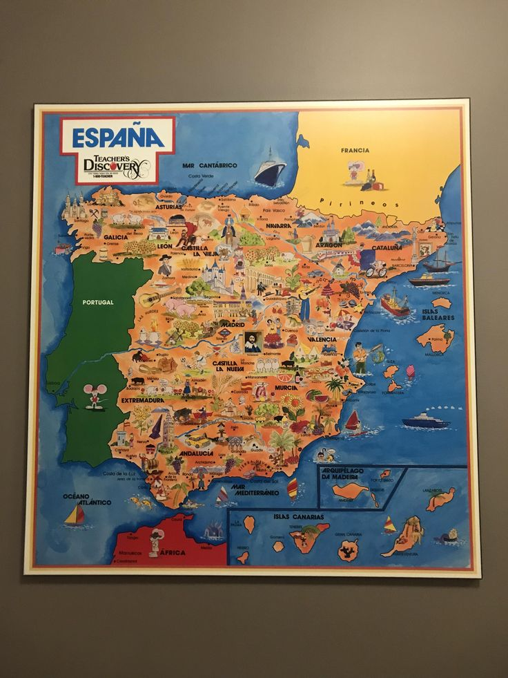 Pictorial map of Espaa The 1695 best