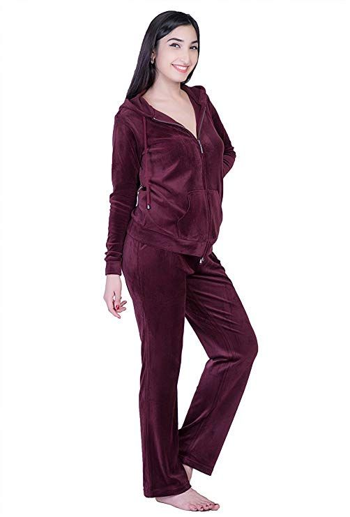47ed58c24b1f Dolcevida Women's Warm Active Solid Velour Tracksuit Zip up Hoodie and  Sweat Pant Set at Amazon Women's Clothing store: