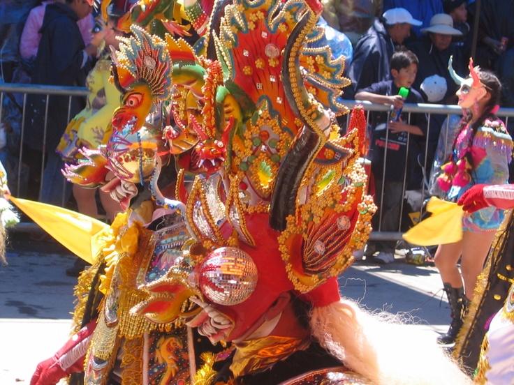 Oruro, Diablada mask.