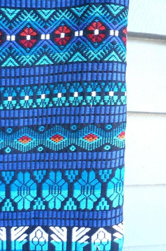 Vintage Mexican Textile Wrap Blanket