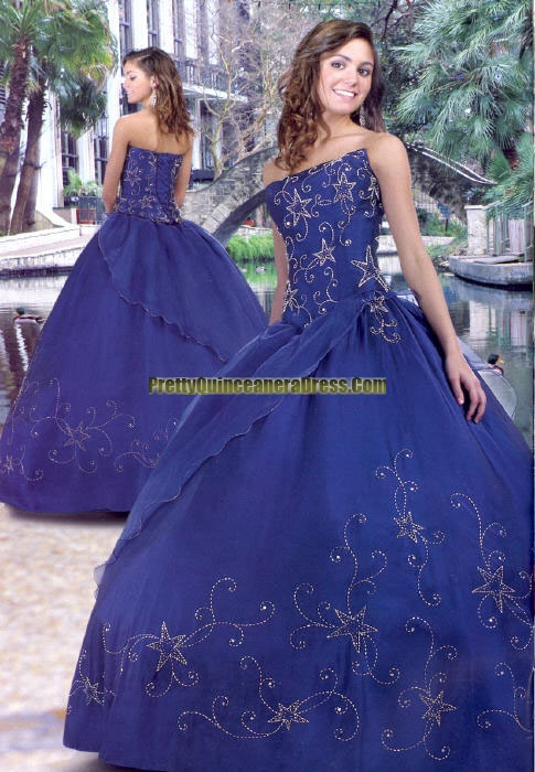 Royal Blue And Stars Quince Dress In 2019 Quince Dresses