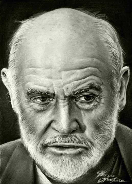 Sean Connery - Desen în Creion de Corina Olosutean // Sean Connery - Pencil Drawing by Corina Olosutean