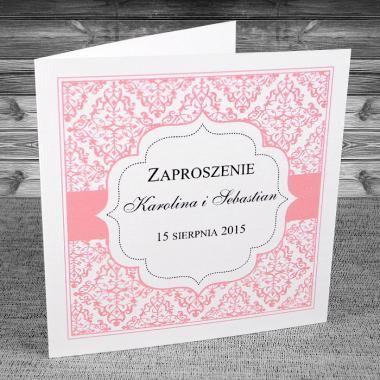 zaproszenia ślubne - Zaproszenia oryginalne Ciekawe, w kolorystyce różowej.