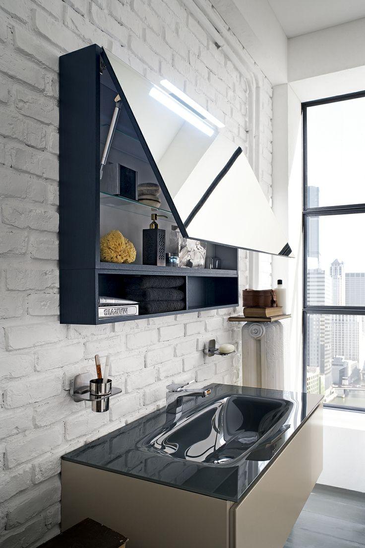 Bagno Suede con finitura Legno tinto petrolio, Laccato tortora opaco  http://www.cerasa.it/it_IT/bagni/design/suede/arredamento-bagni_design-suede-new-114