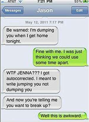 Breakup texts so awful you can't look away...