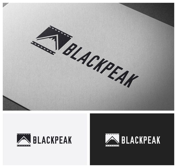 Clever, urban logo for a new, digital film company 'Black Peak Productions' Logo design #42 by whyt_
