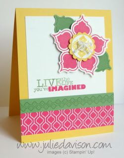 Stampin' Up! Mosaic Madness: Mosaic Punch Art Flower by Julie Davison, http://juliedavison.com